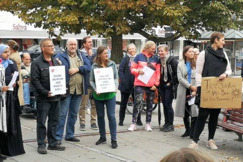 Protest imod kommunale nedskæringer i Aarhus, september 2018
