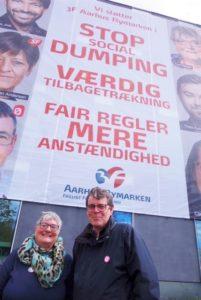 Else Kayser og Søren Egge Rasmussen støtter 3F Rymarkens kampagne for at få opsagt Velfærdsforliget