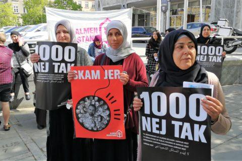 Demonstration mod nedrivning, foran Aarhus Rådhus 15.5.2019