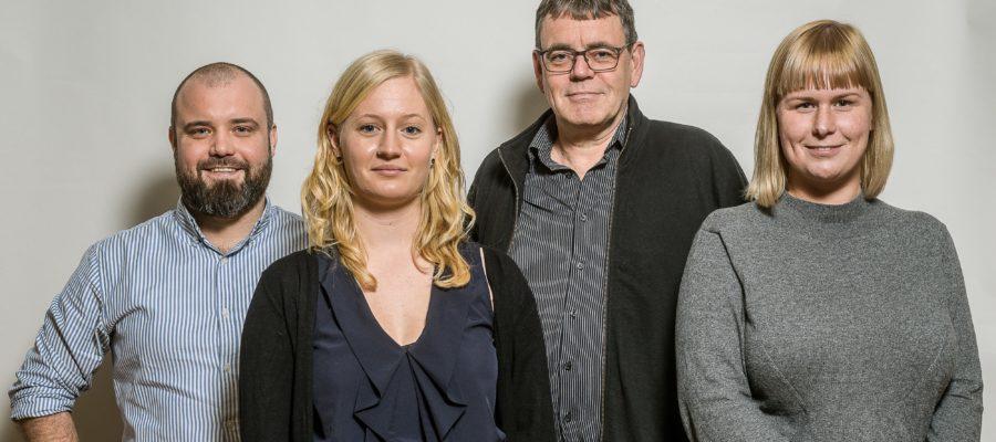 Nikolaj Villumsen, Anne Hegelund, Søren Egge Rasmussen og Maja Albrechtsen