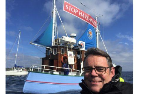 Søren Egge Rasmussen i aktion mod havbrug