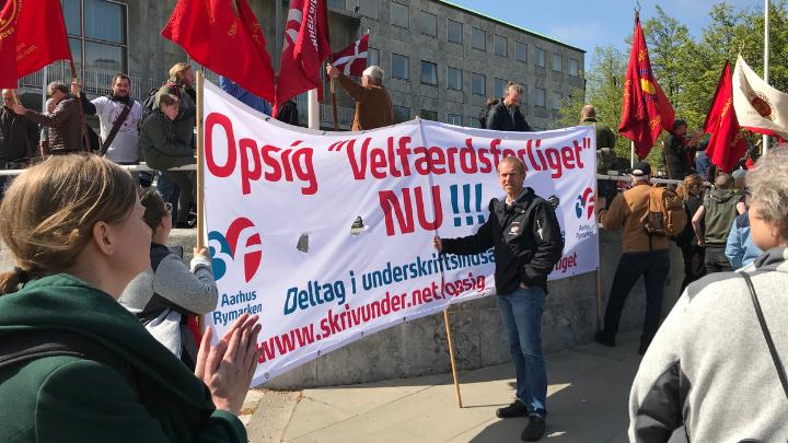 3F Rymarkens banner 1. maj 2019