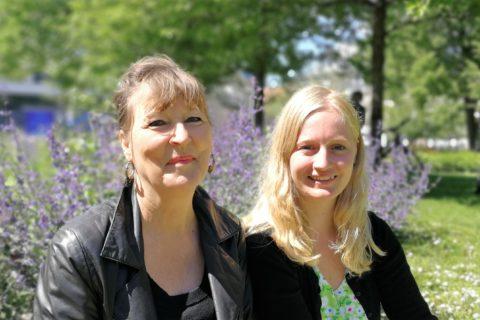 Lone Norlander og Anne Hegelund