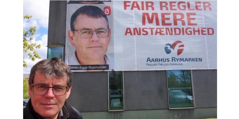 Søren Egge Rasmussen ved 3F