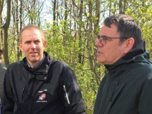 Thomas Møller (tv) og Søren Egge Rasmussen