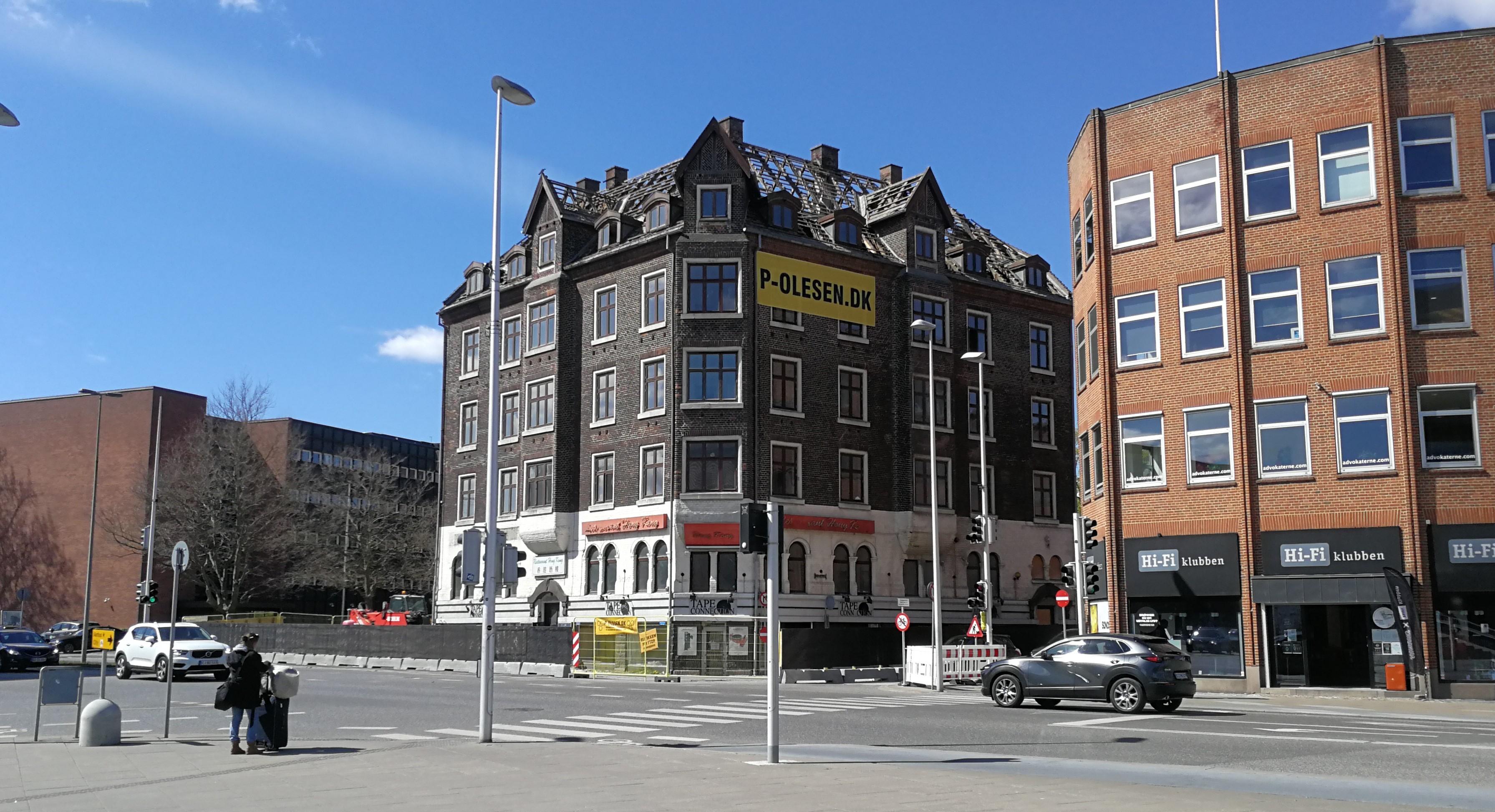 Bygning Jomsborg - nu revet ned